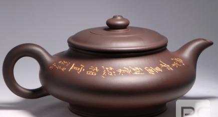 广西工艺美术大师唐小红作品:虚扁紫砂壶
