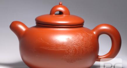 广西工艺美术大师唐小红作品:大美桂林紫砂壶