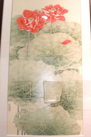 广东省美协陈欢迎国画:红荷花