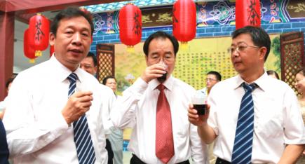 广西政协副主席刘君视察中华工艺美术网演示情况
