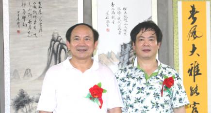 中华工艺美术网副总编唐国宣采访原南宁书协黄大业主席