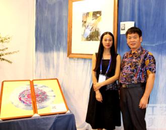 广西刺绣师杜焕珍:我愿用一点蓝来描绘春天唯美的色彩
