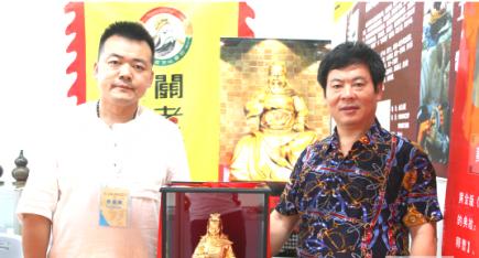 中华工艺美术网唐国宣采访山西关老爷文化创意公司王米起