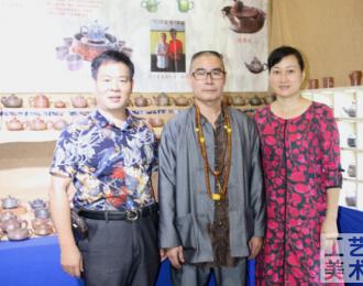 中华工艺美术网副总编唐国宣采访广西工艺美术大师庞赋军